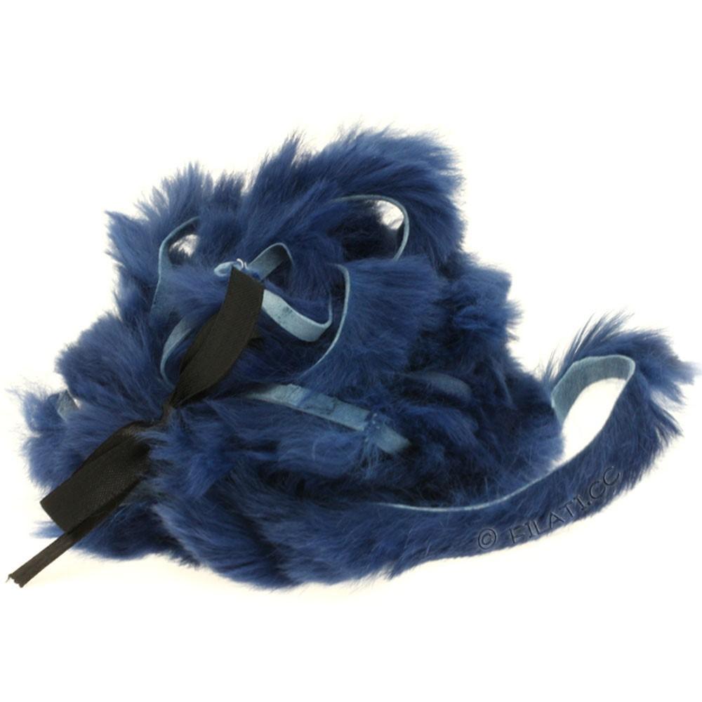 Striscina pelliccia coniglio | 403-blu