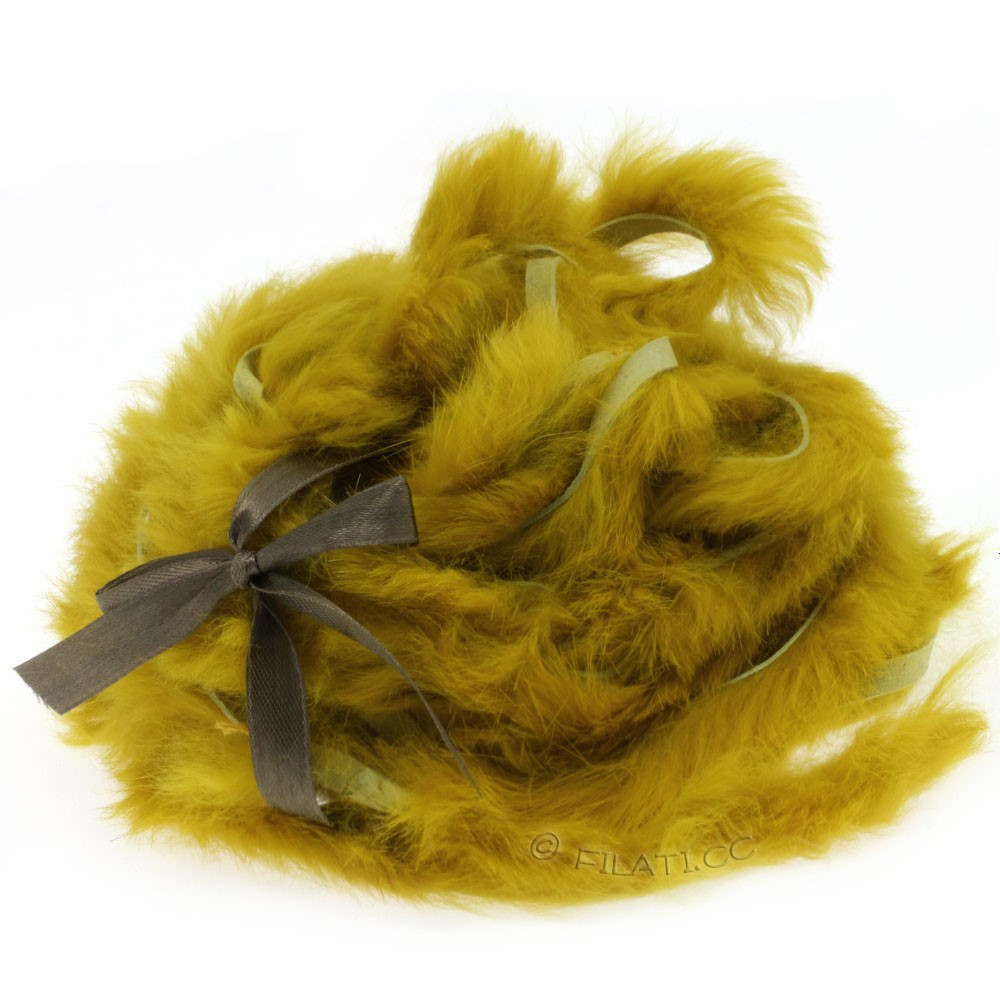 Striscina pelliccia coniglio | 407-senape