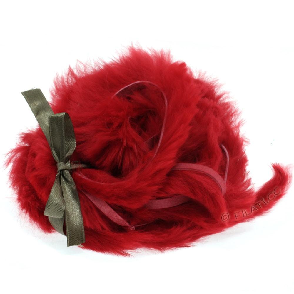 Striscina pelliccia coniglio | 408-rosso