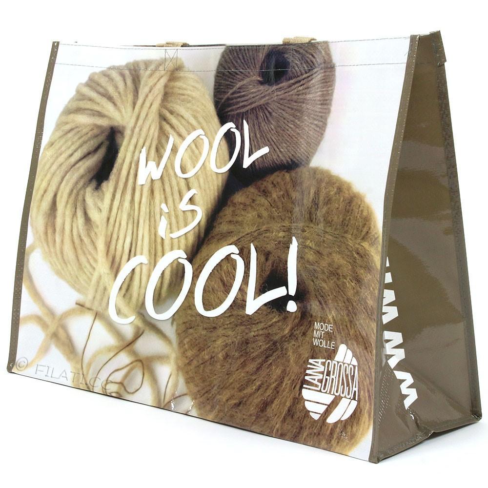 Sacchetto di acquisto WOOL IS COOL - 1 | 01-beige/marrone/natura
