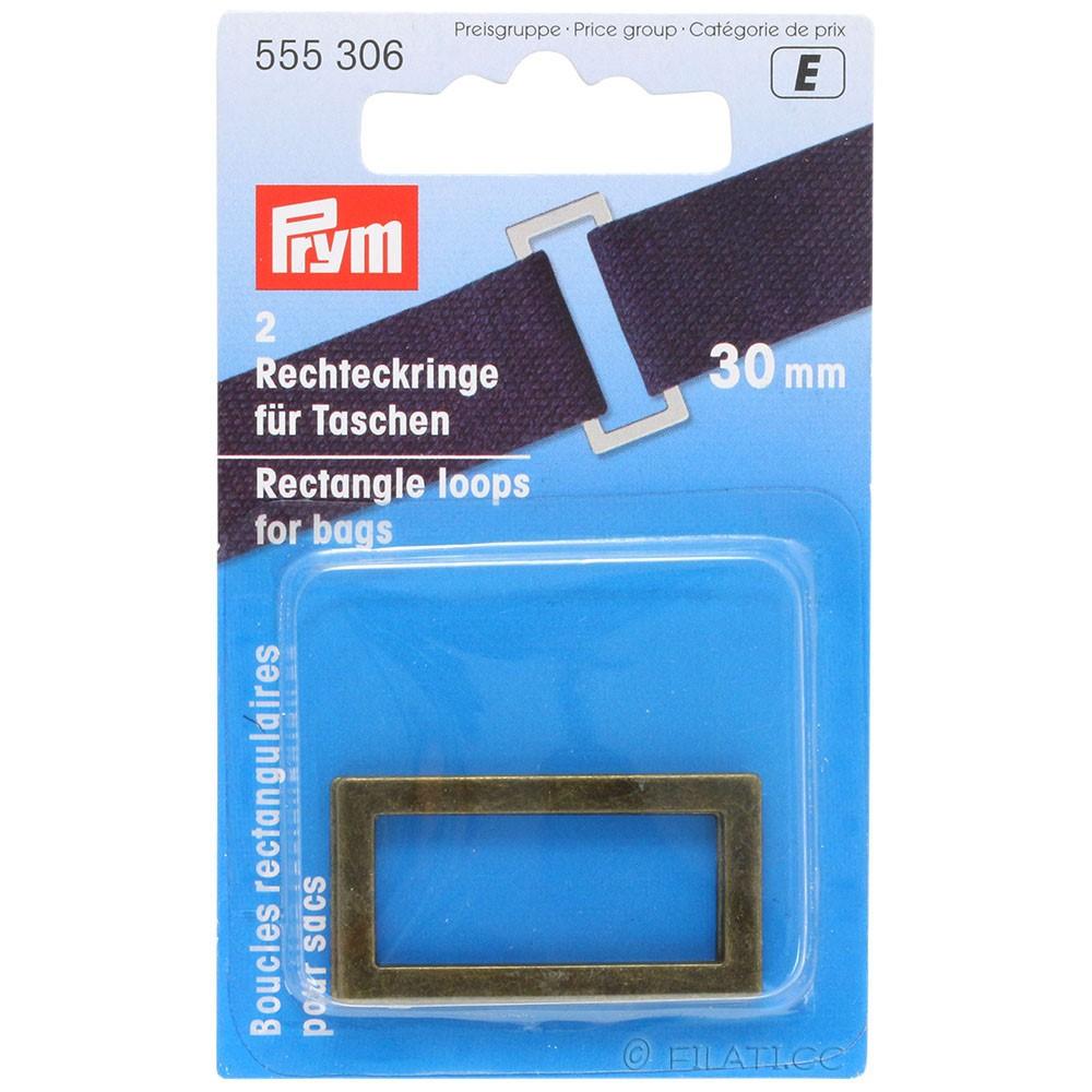 Anelli rettangolari 555306/30mm   306-ottone antico