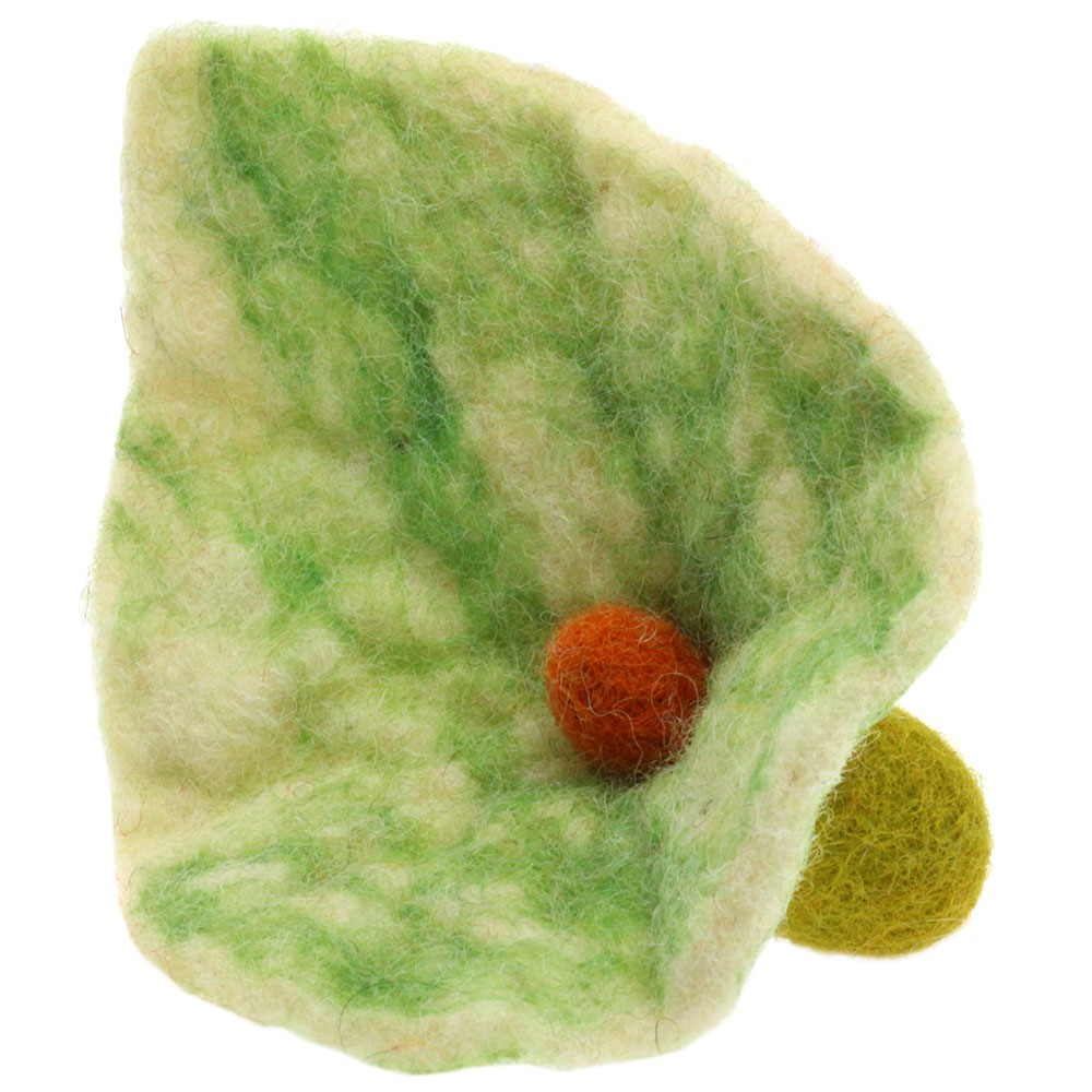 Fiore di feltro/12cm   01-verde