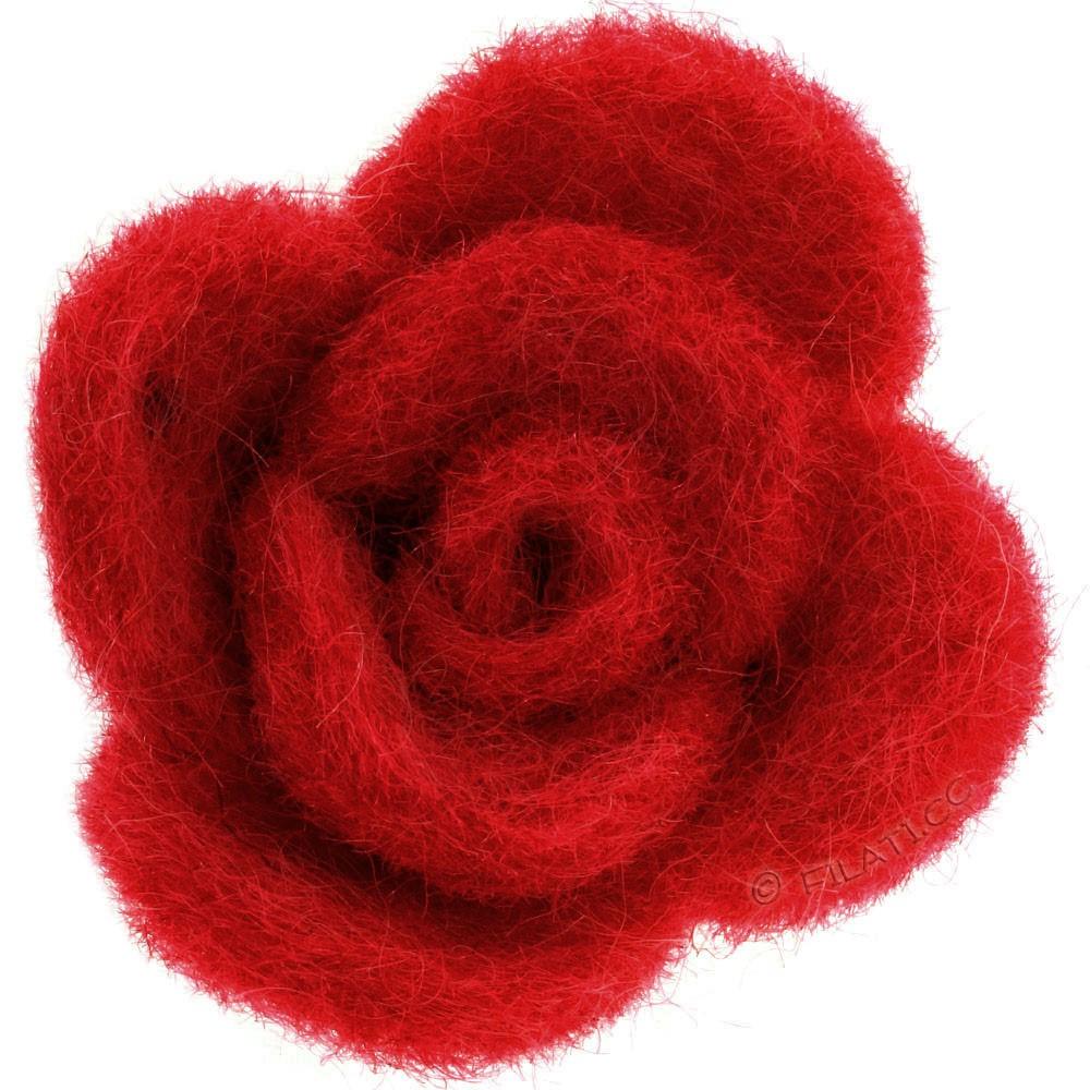 Fioriture feltro 12333/40mm   03-rosso