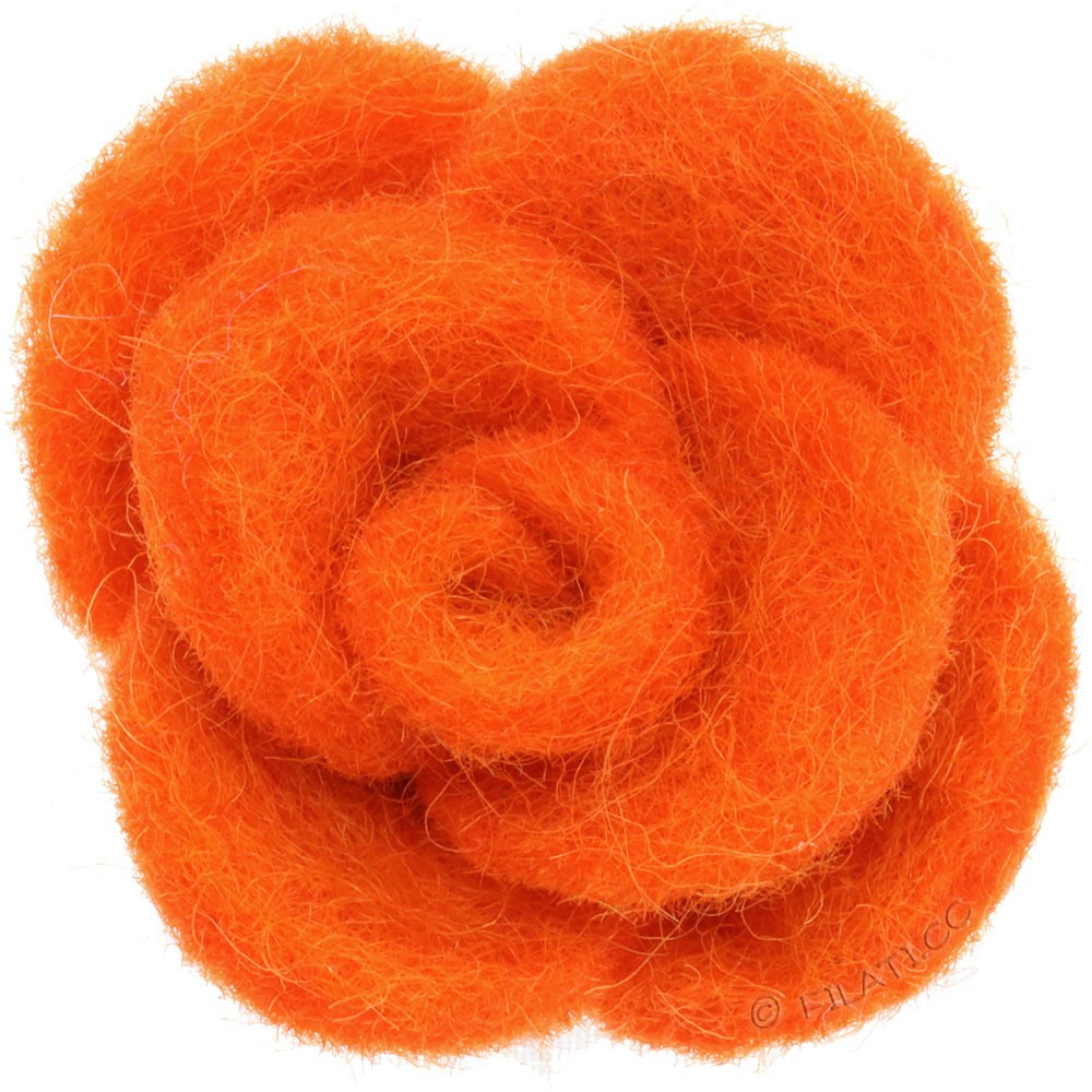 Fioriture feltro 12333/40mm   06-arancio