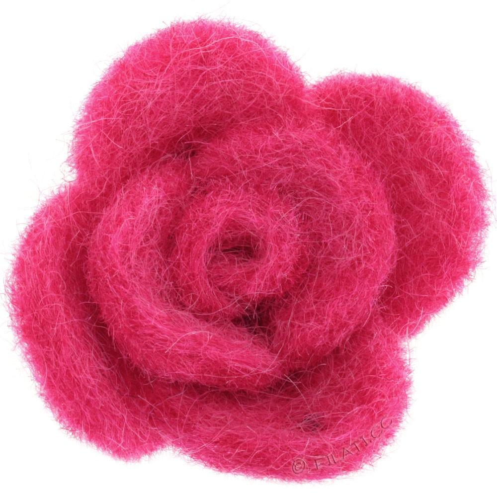Fioriture feltro 12333/40mm   07-rosa vivo