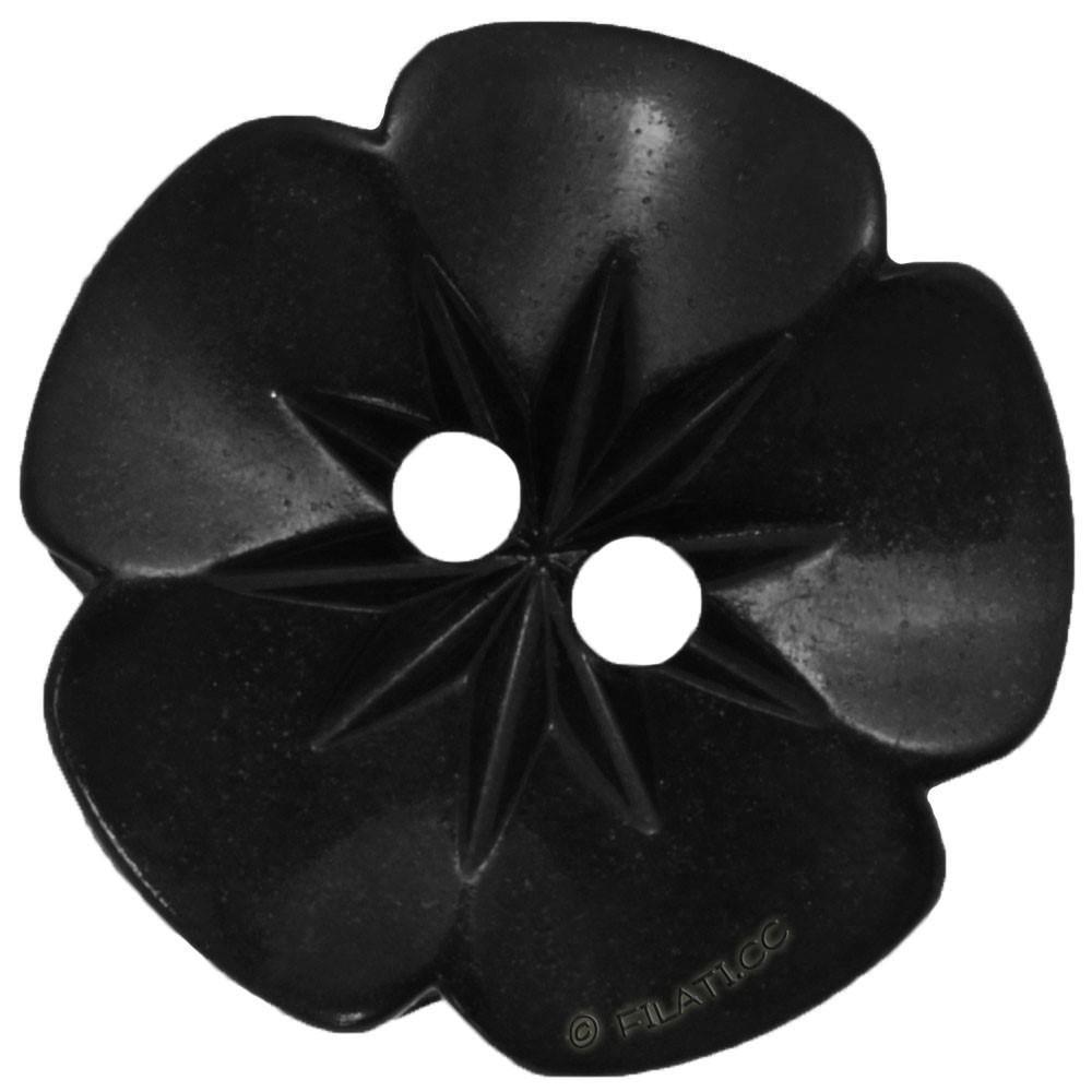 UNION KNOPF 26533/15mm | 80-nero