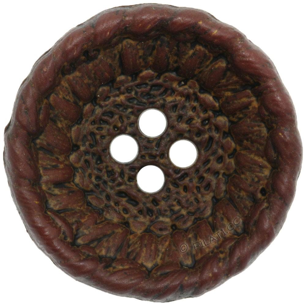 UNION KNOPF 452554/28mm | 20-marrone scuro