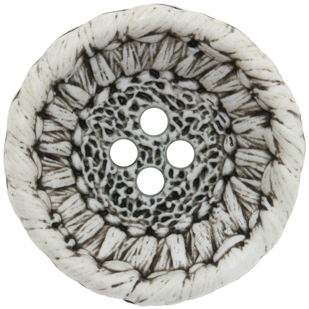 UNION KNOPF 452554/28mm | 74-bianco
