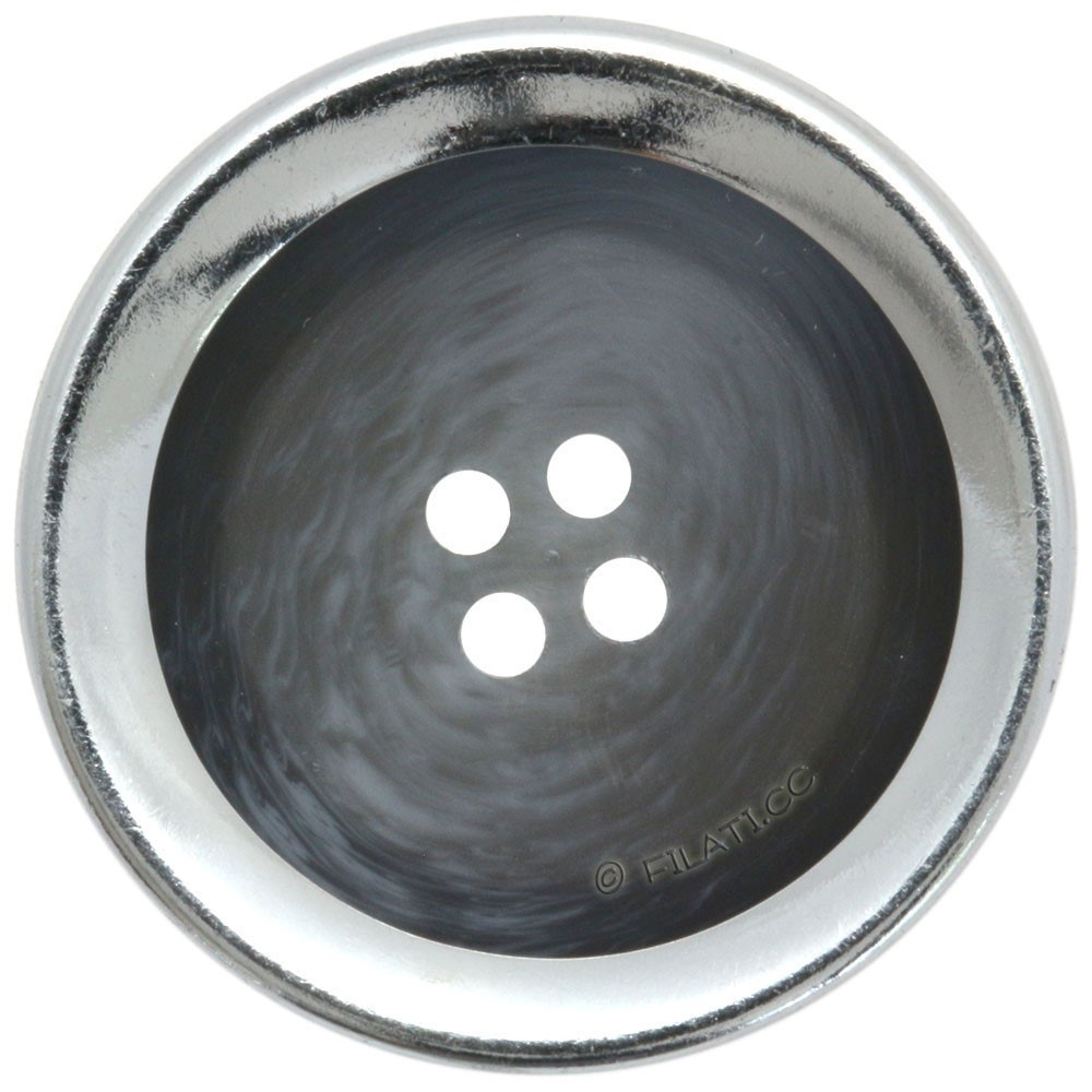 UNION KNOPF 452555/25mm | 76-blu/grigio/argento