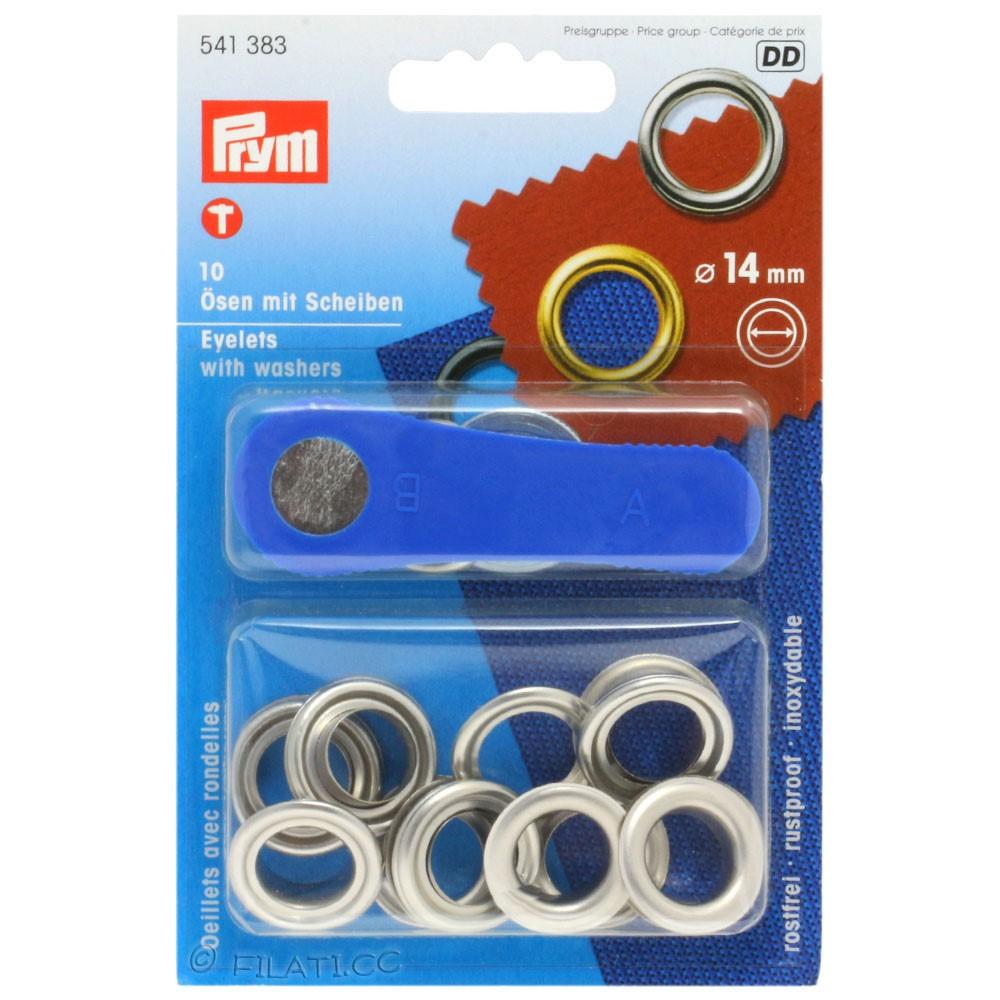 Occhielli con rondelle 541383/14mm | 383-argento