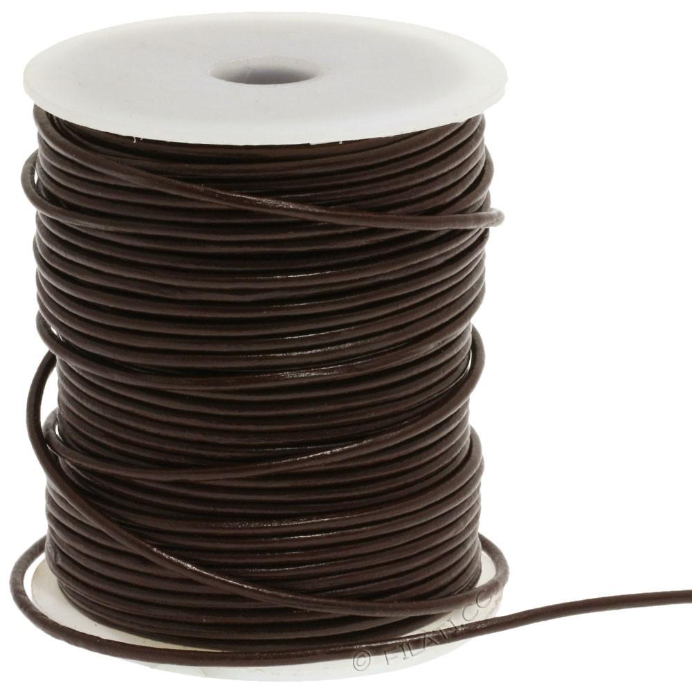 Nastro tondo in pelle 1233/105cm | 22-marrone scuro