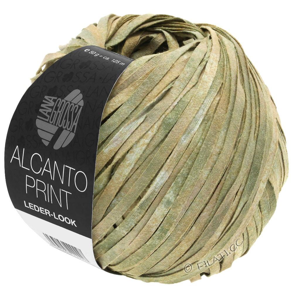 Lana Grossa ALCANTO Print | 101-natura/beige/verde grigio