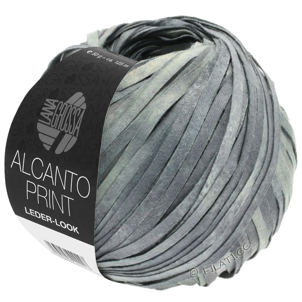 Lana Grossa ALCANTO Print | 103-grigio medio/grigio chiaro/natura