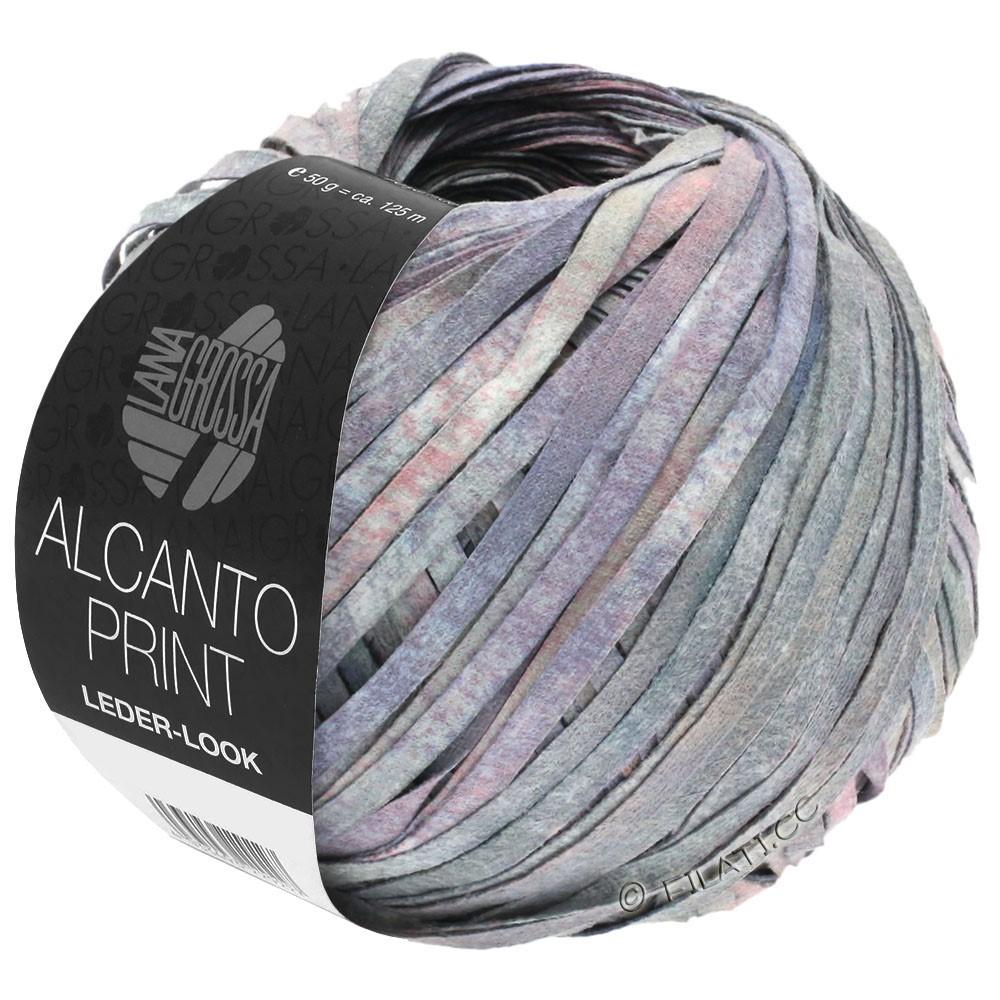 Lana Grossa ALCANTO Print | 104-grigio/lilla/rosa