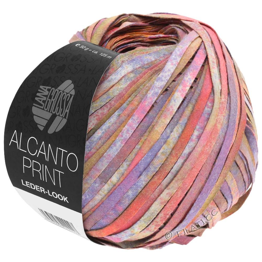Lana Grossa ALCANTO Print | 106-rosa/porpora/marrone