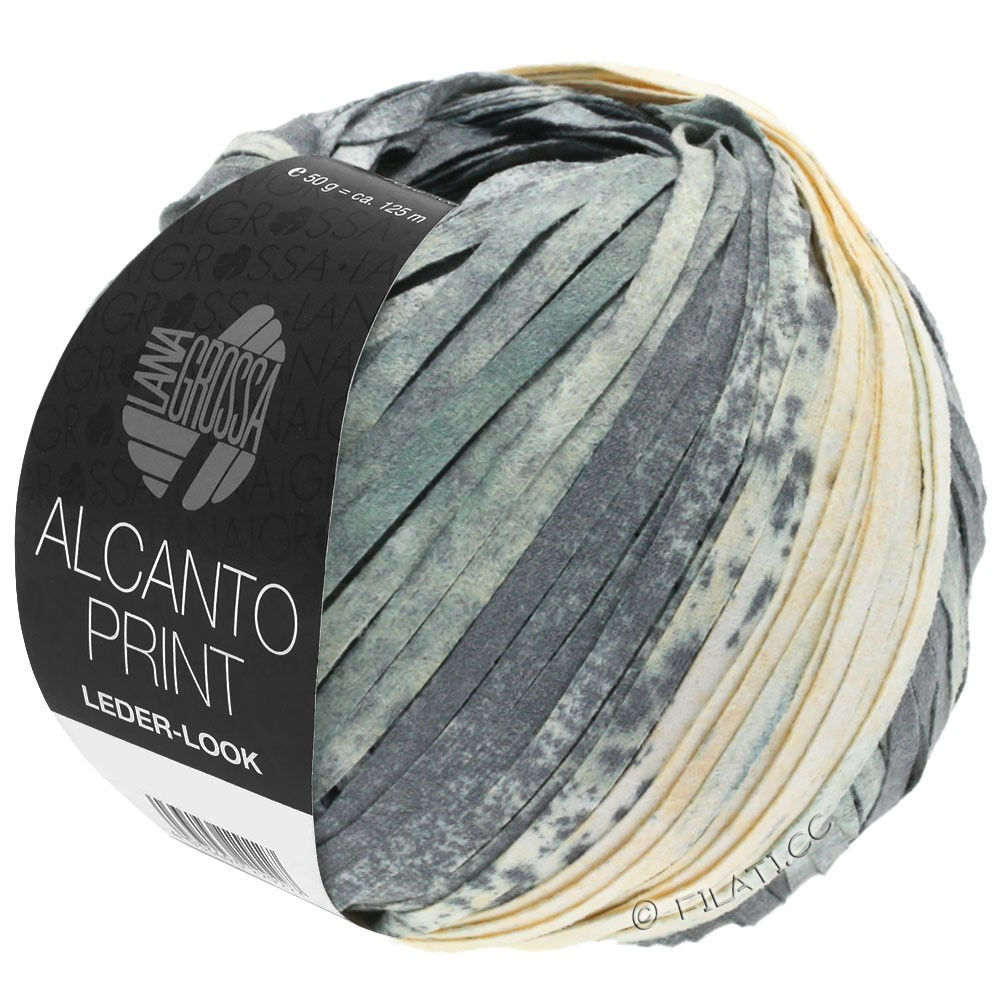 Lana Grossa ALCANTO Print | 203-grigio/bianco