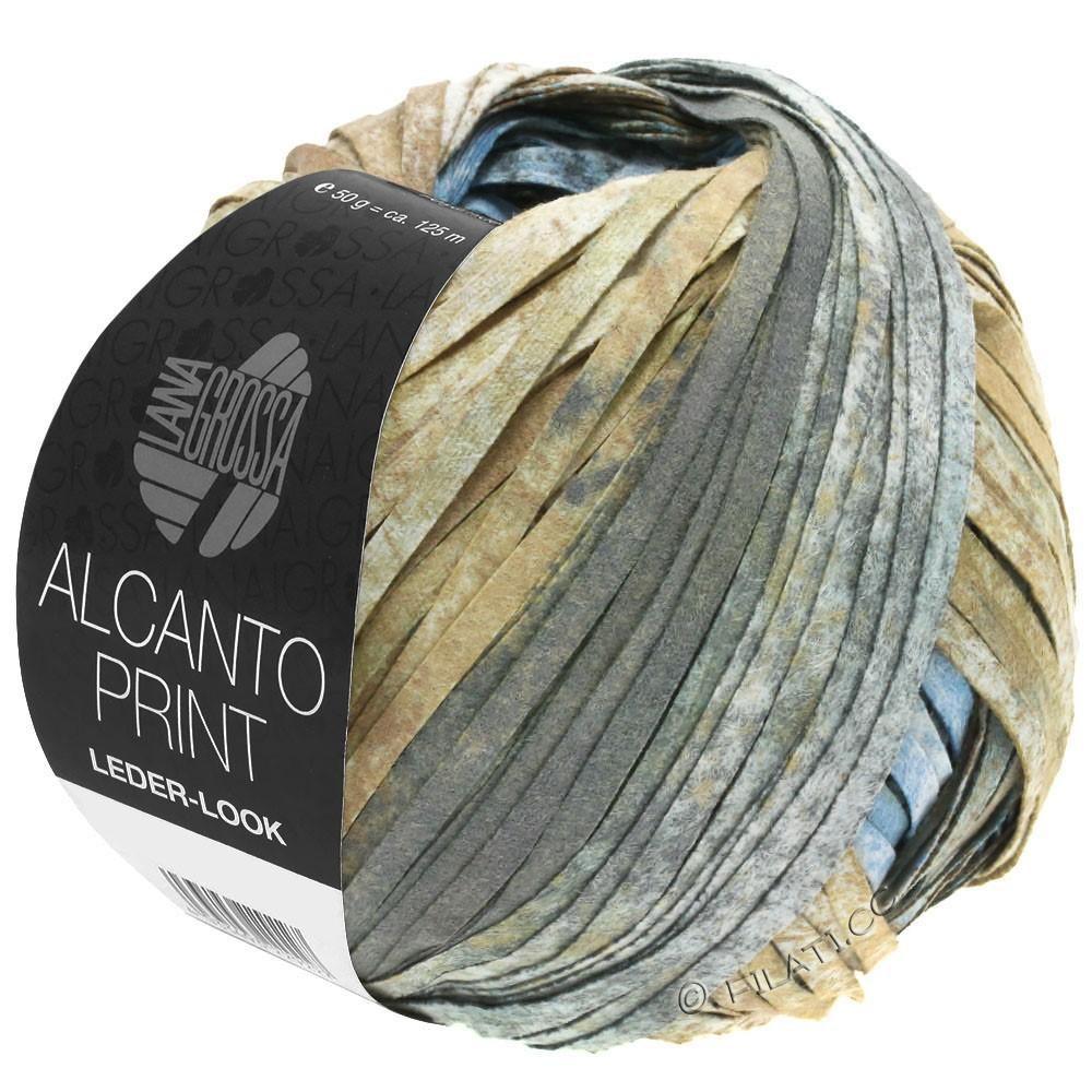 Lana Grossa ALCANTO Print | 206-natura/marrone sabbia/grigio
