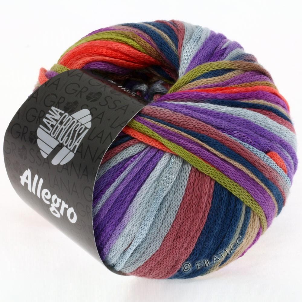Lana Grossa ALLEGRO   004-oliva/bacca/corallo/viola/cammello