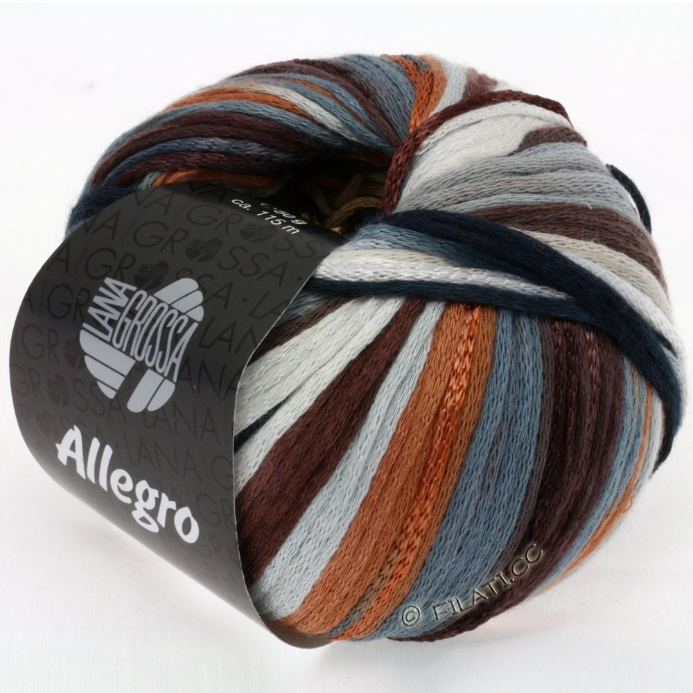 Lana Grossa ALLEGRO   010-cammello/marrone scuro/ardesia/grigio argento/ruggine/natura