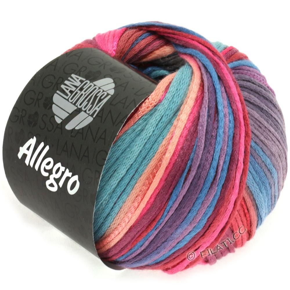 Lana Grossa ALLEGRO   012-rosa vivo/salmone/viola/grigio blu/marrone rossiccio