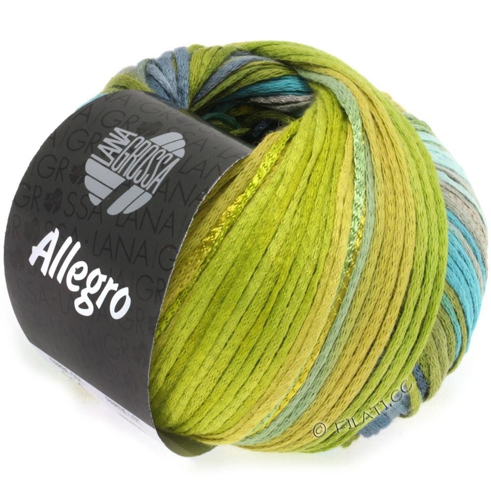 Lana Grossa ALLEGRO   014-ottanio/verde oliva/blu acciaio/verde fieno/verde muschio