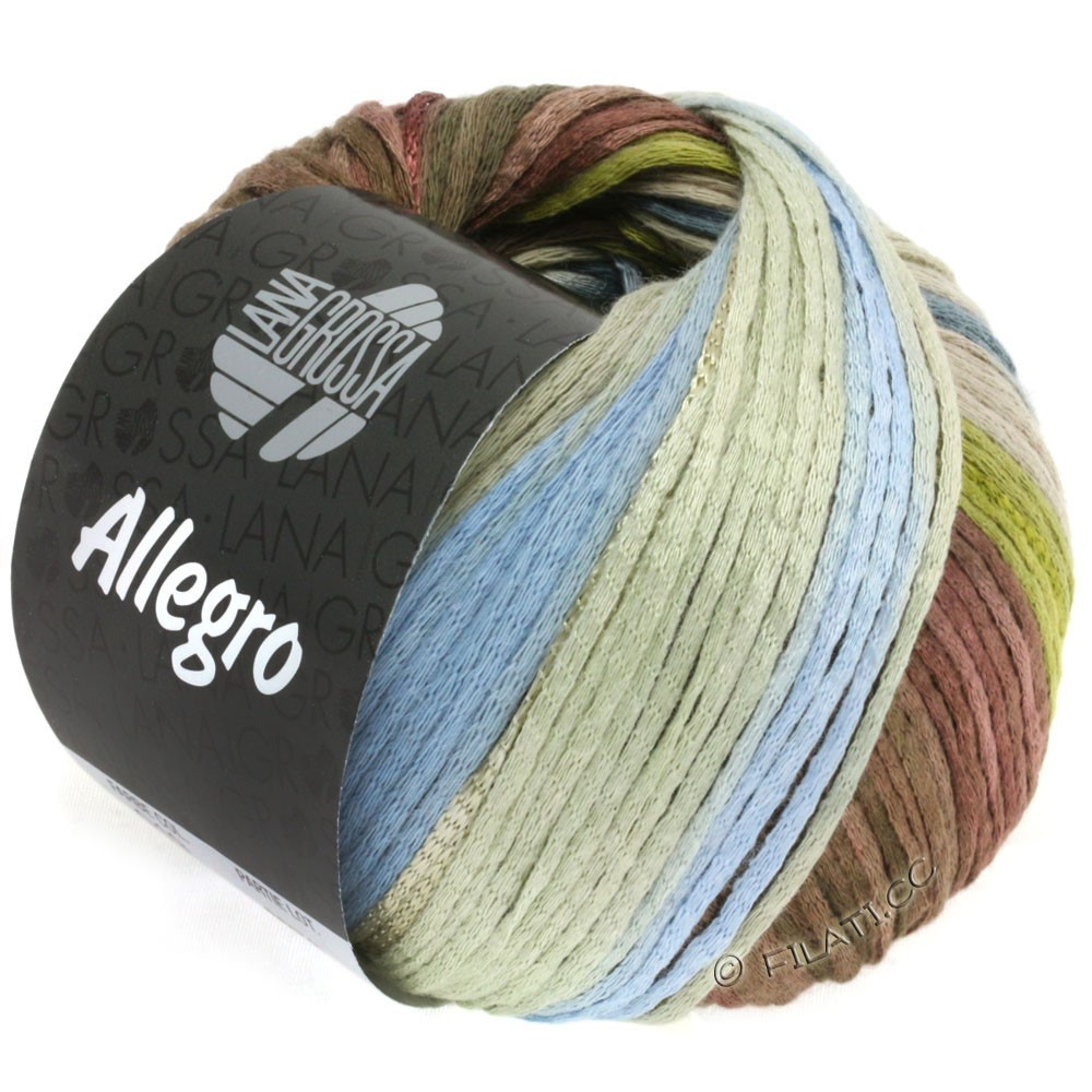 Lana Grossa ALLEGRO   019-verde oliva/blu fumo/torrone/beige grigio/verde fieno