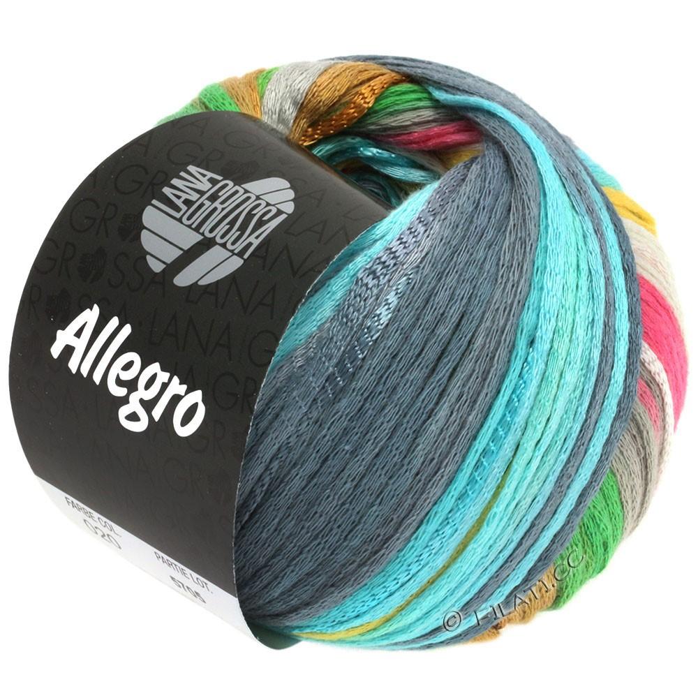 Lana Grossa ALLEGRO   020-grigio argento/giallo chiaro/rosa/verde chiaro/grigio blu