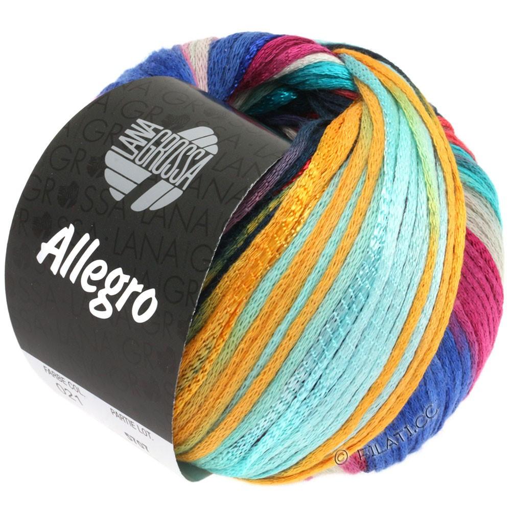 Lana Grossa ALLEGRO   021-turchese chiaro/blu/ottanio/mandarino/argilla rosso