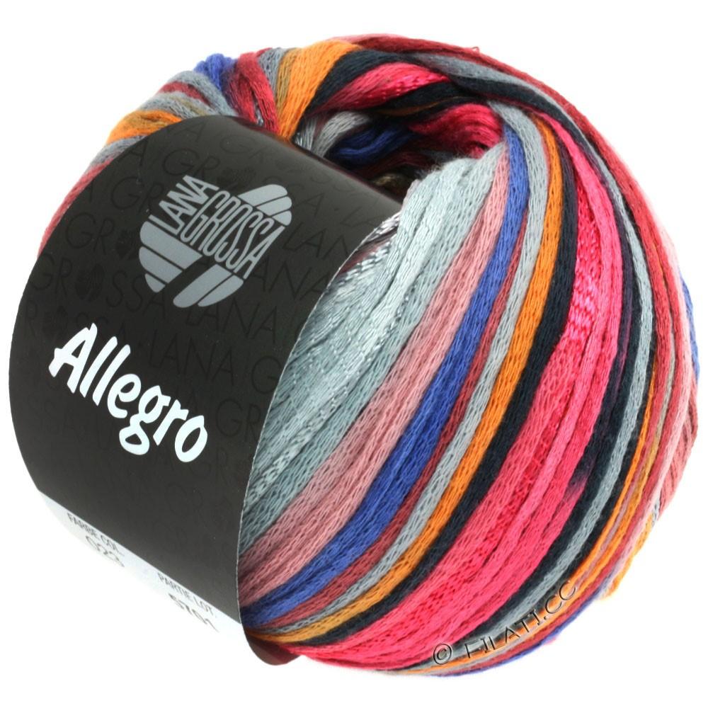 Lana Grossa ALLEGRO   023-lampone/arancio/grigio argento/blu acciaio