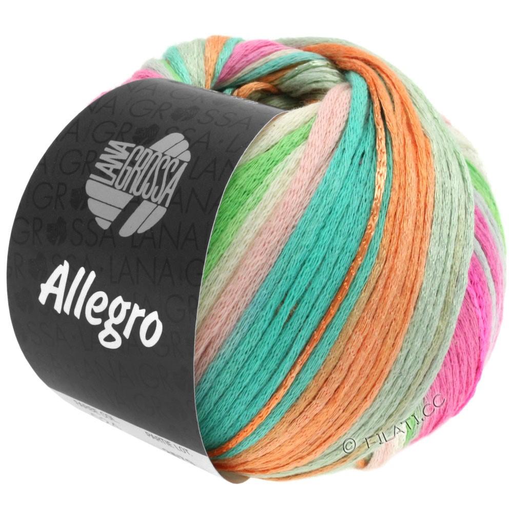 Lana Grossa ALLEGRO   024-rosa delicata/natura/verde pastello/turchese  /pesca/rosa vivo