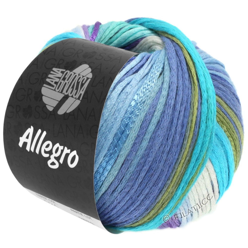 Lana Grossa ALLEGRO   028-bianco/blu chiaro/azzurro/turchese chiaro/verde delicata/porpora