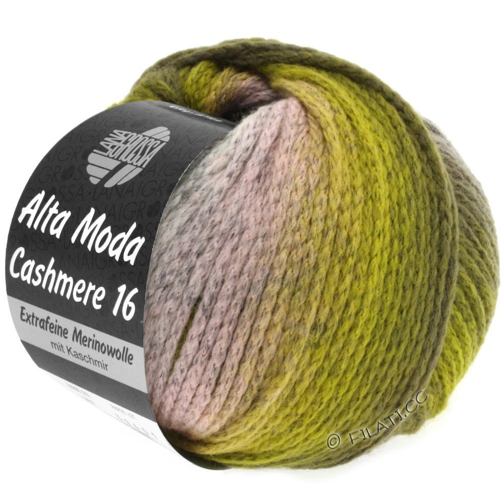 Lana Grossa ALTA MODA CASHMERE 16 Degradé   103-rosa/grigio chiaro/oliva/cachi