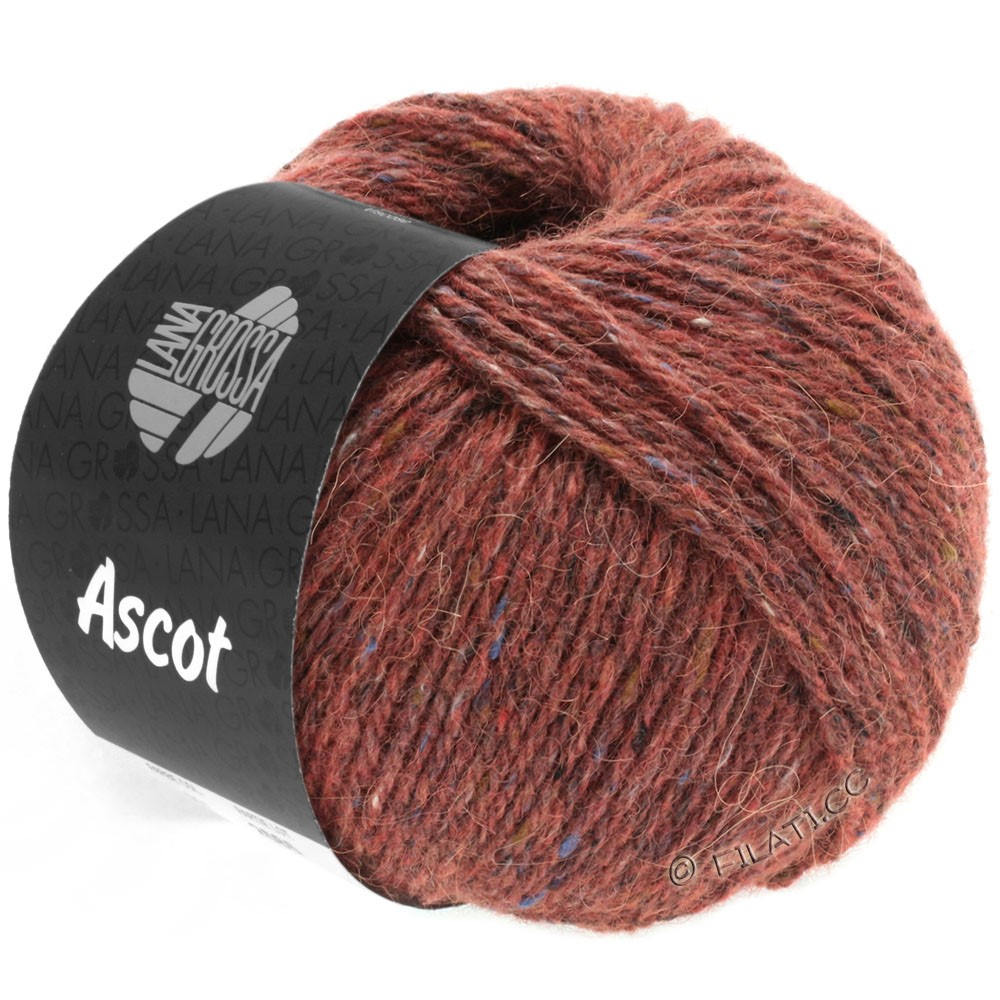 Lana Grossa ASCOT | 18-rosso marrone puntinato