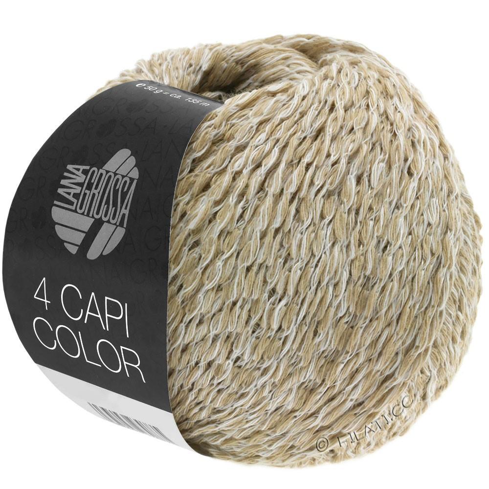 Lana Grossa 4 CAPI Color | 101-bianco/beige