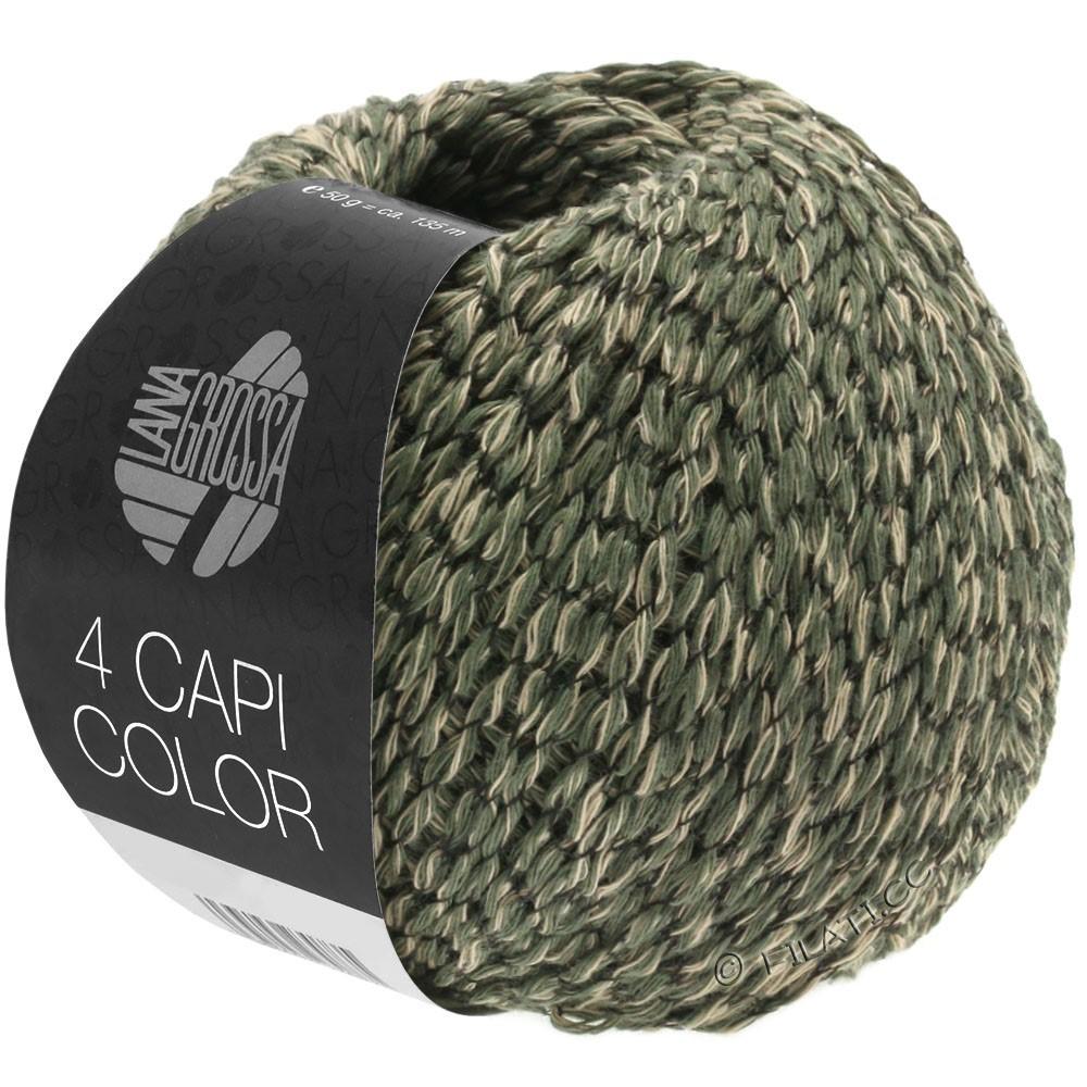 Lana Grossa 4 CAPI Color | 103-sabbia/verde cacciatore