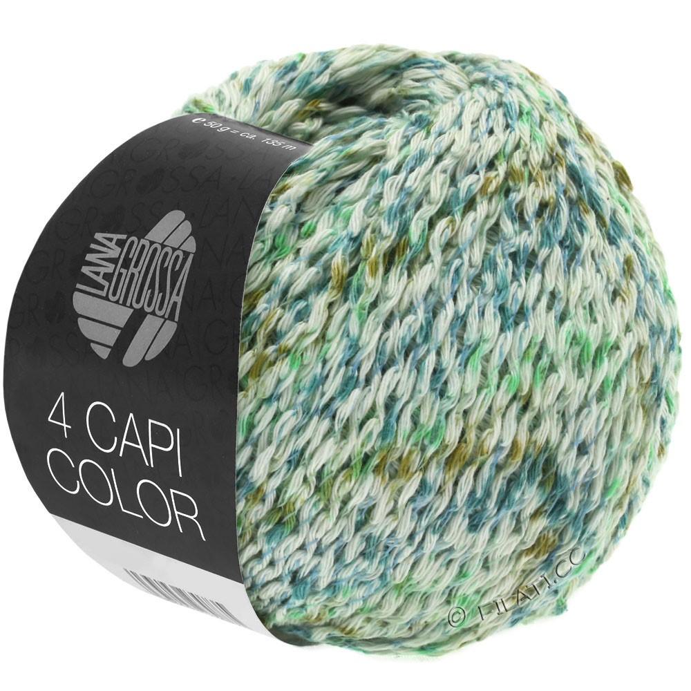 Lana Grossa 4 CAPI Color | 104-natura/verde giada/turchese  /oliva