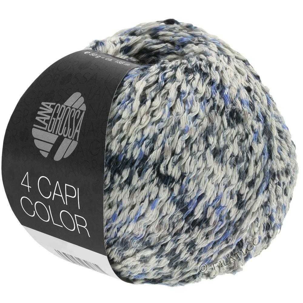 Lana Grossa 4 CAPI Color | 107-natura/jeans/blu scuro/grigio