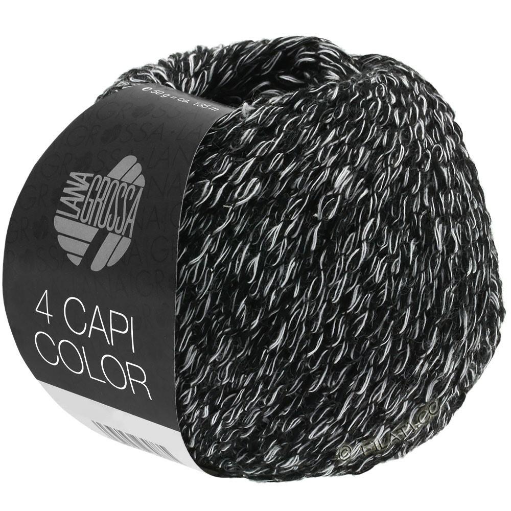 Lana Grossa 4 CAPI Color | 108-nero/bianco
