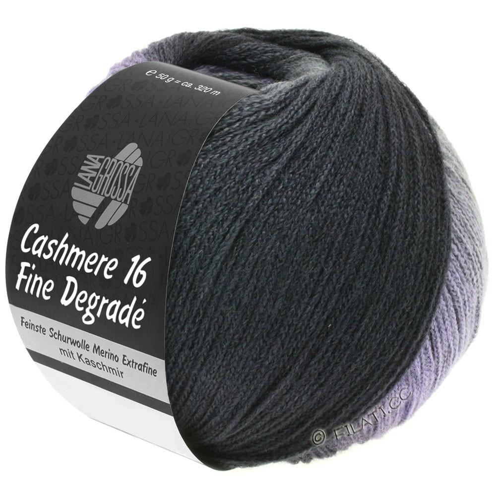 Lana Grossa CASHMERE 16 FINE Uni/Degradé | 102-grigio scuro/antracite/porpora lilla