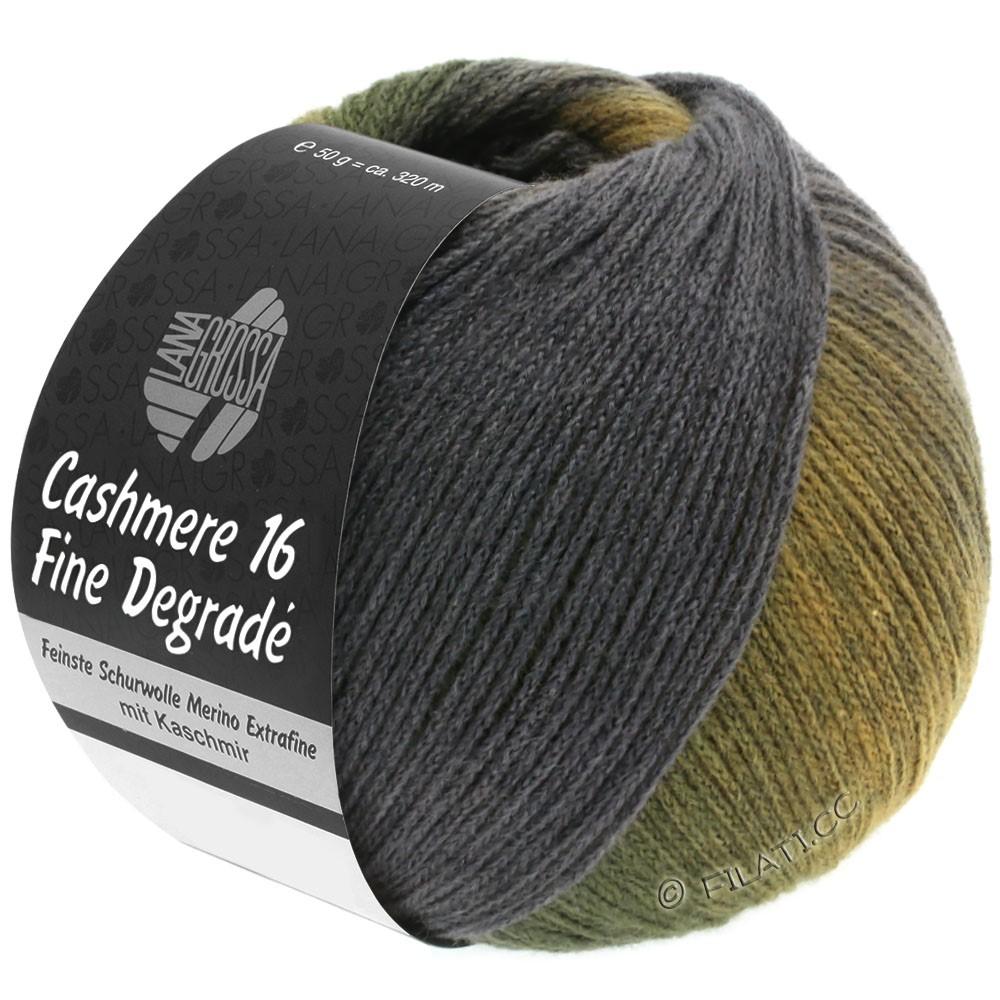Lana Grossa CASHMERE 16 FINE Uni/Degradé | 108-cachi/verde grigio/verde muschio/grafite
