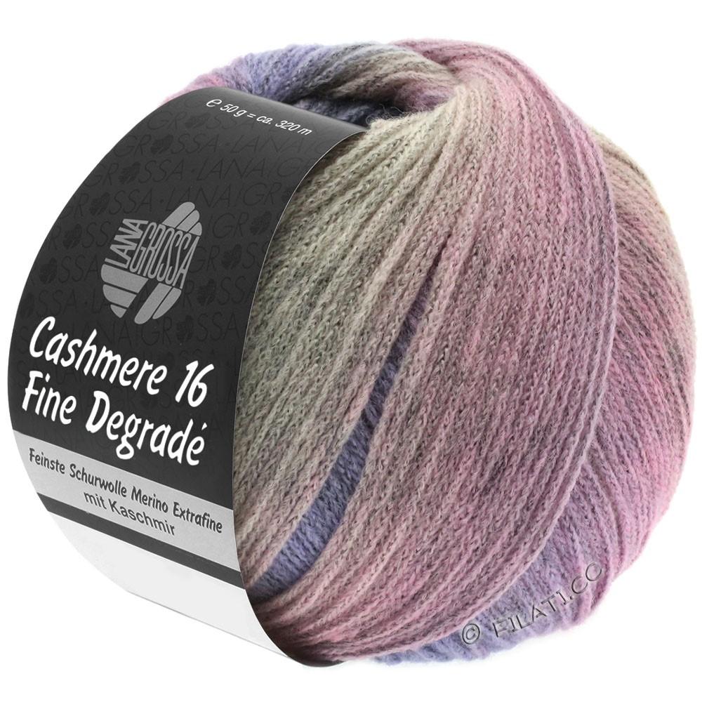 Lana Grossa CASHMERE 16 FINE Uni/Degradé | 110-rosa grigio/porpora/rosé/grège