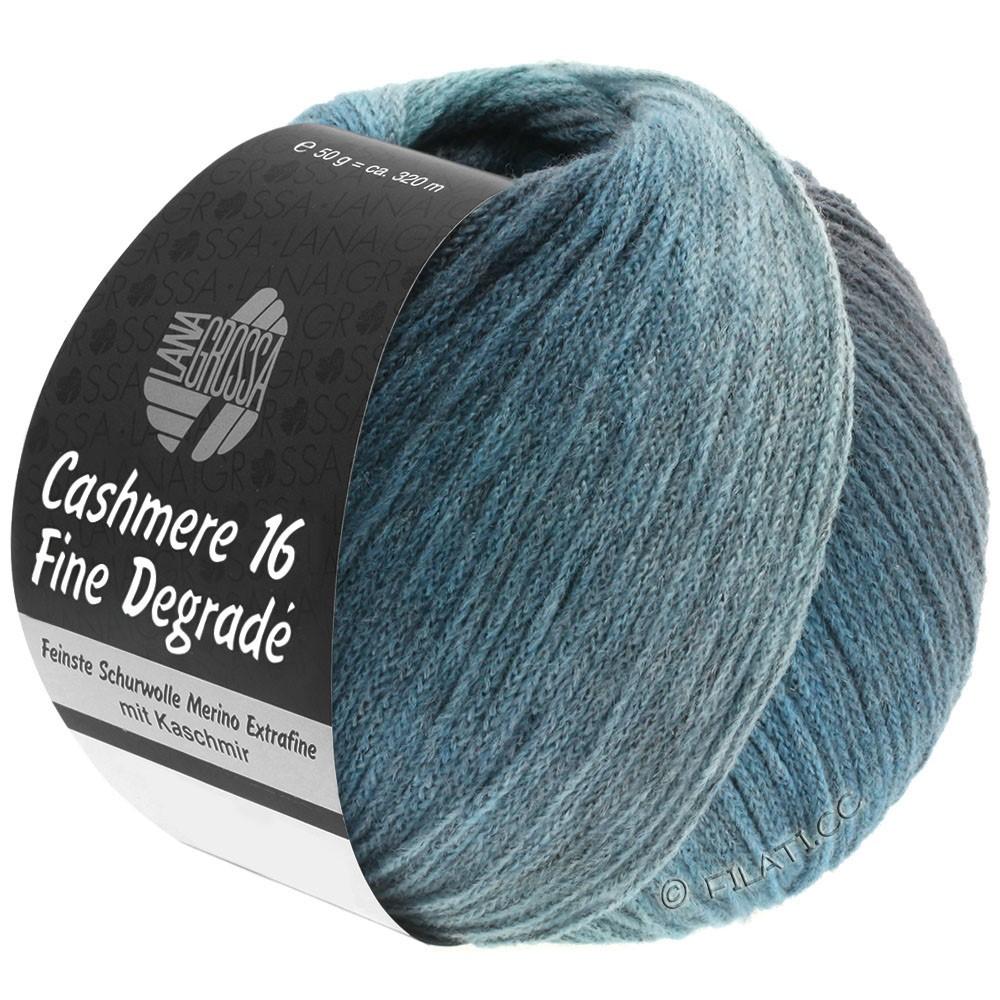 Lana Grossa CASHMERE 16 FINE Uni/Degradé | 111-blu ottanio/blu acciaio/menta
