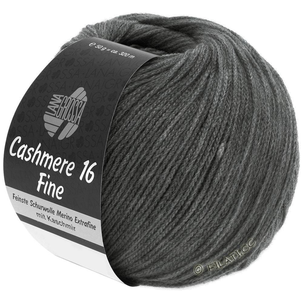 Lana Grossa CASHMERE 16 FINE Uni/Degradé | 016-grigio scuro