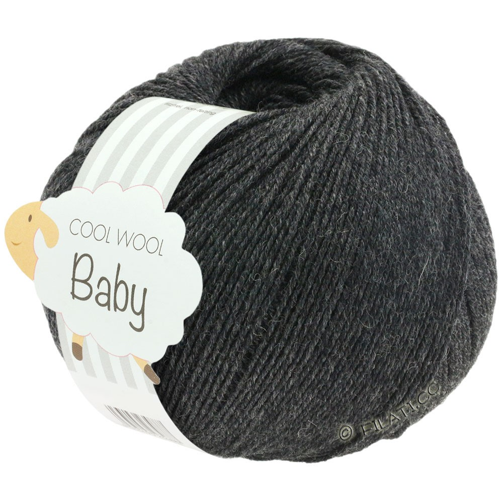 Lana Grossa COOL WOOL Baby | 205-antracite