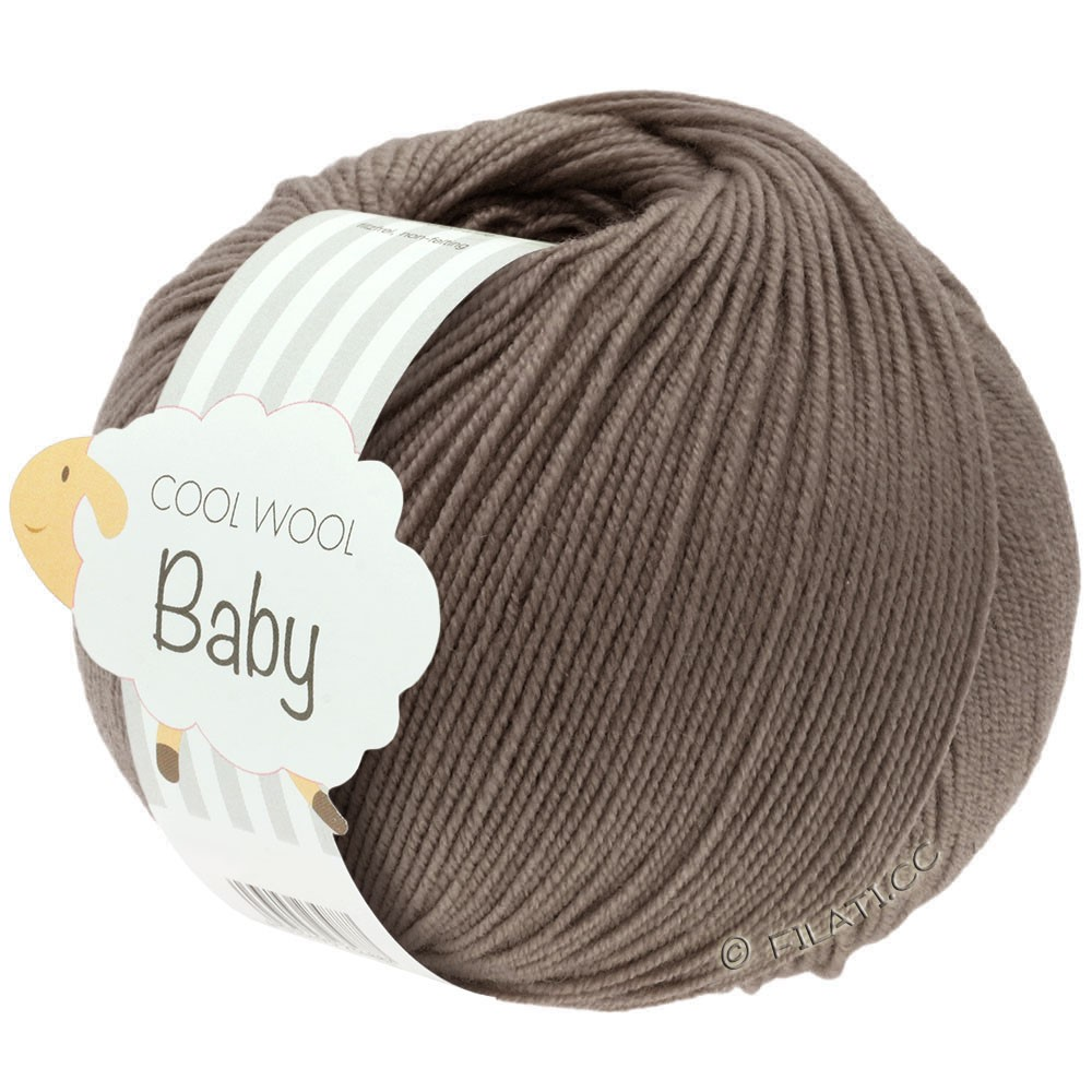 Lana Grossa COOL WOOL Baby | 211-grigio marrone