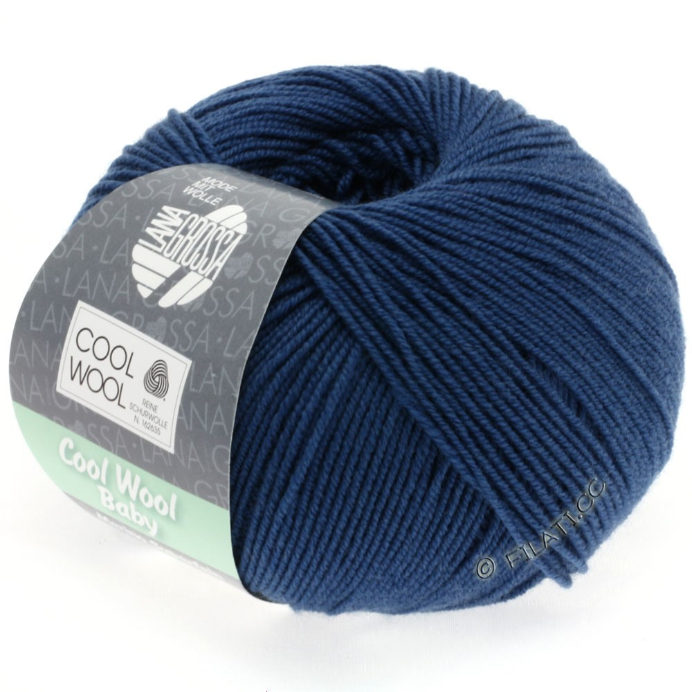 Lana Grossa COOL WOOL Baby | 243-blu scuro