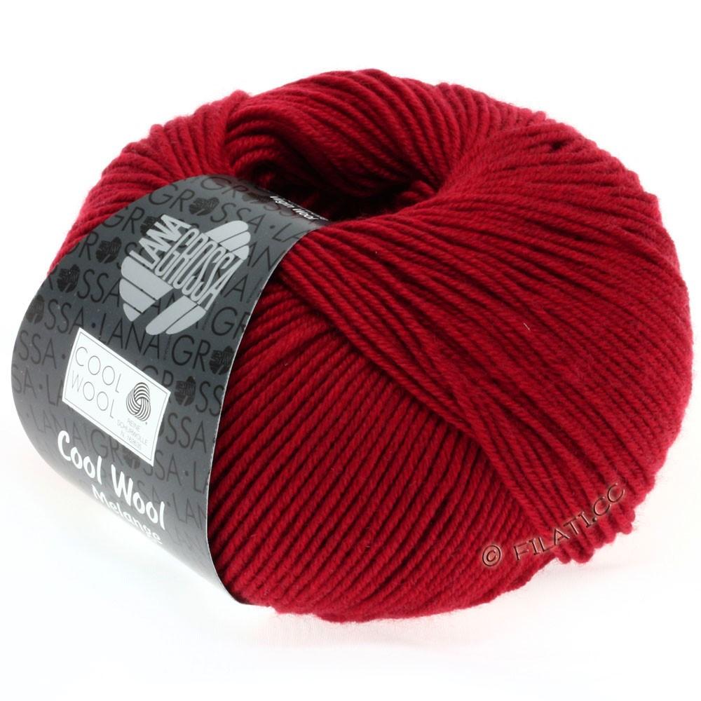Lana Grossa COOL WOOL   Uni/Melange/Neon | 0102-rosso puntinato
