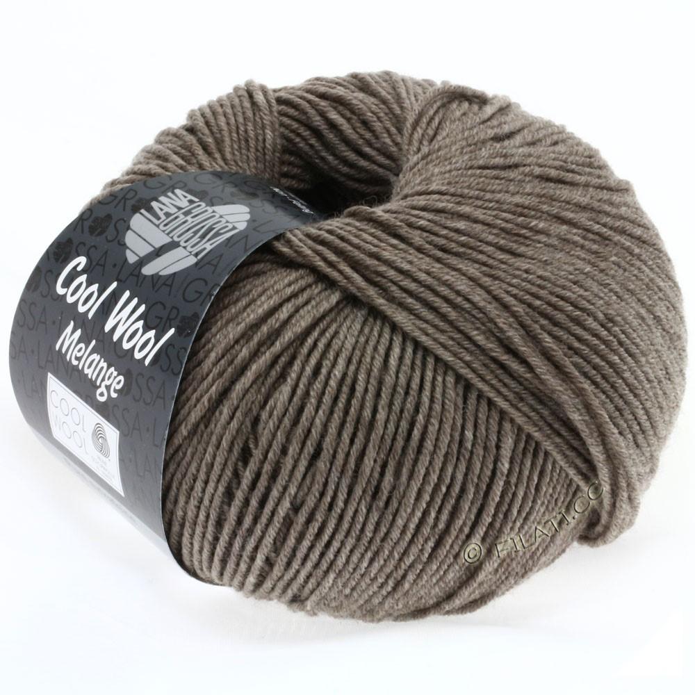 Lana Grossa COOL WOOL   Uni/Melange/Neon | 0115-grigio marrone puntinato