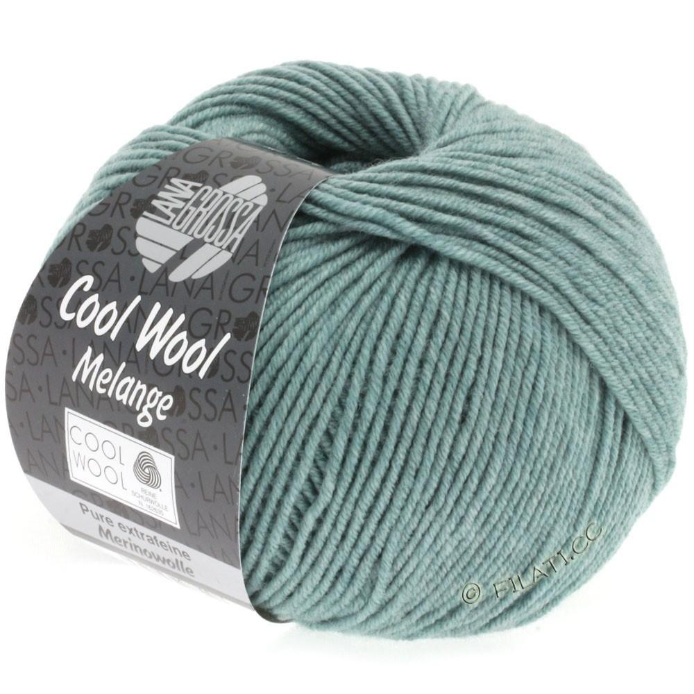 Lana Grossa COOL WOOL   Uni/Melange/Neon | 0132-verde grigio puntinato