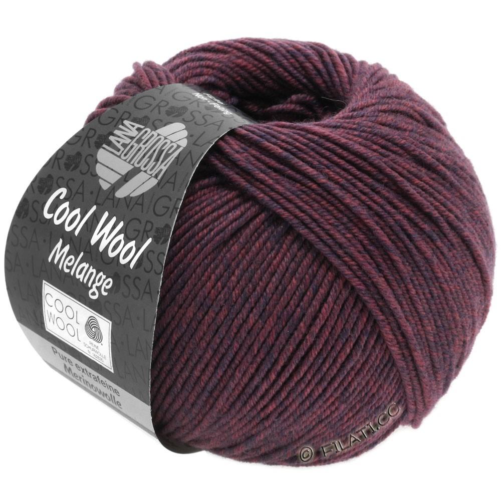 Lana Grossa COOL WOOL   Uni/Melange/Neon | 0137-blu scuro/bacca puntinato